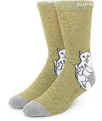 RipNDip Lord Nermal Mustard Socks