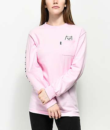 RipNDip Lord Nermal Pink Long Sleeve T-Shirt