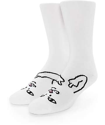 RipNDip Lord Nermal Twins White Crew Socks