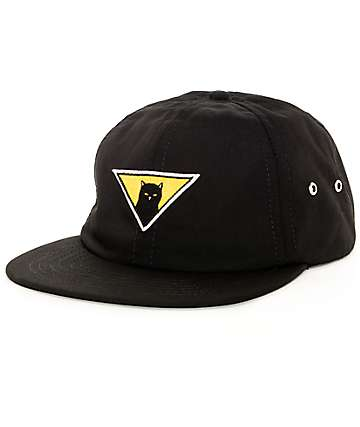 RipNDip Neighborhood Watch Black Strapback Hat
