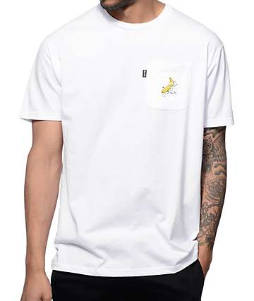 RipNDip Nermal Banana White Pocket T-Shirt