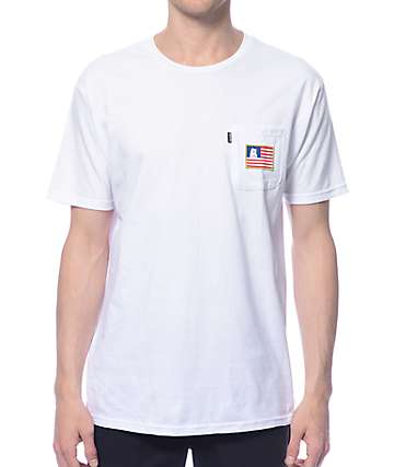 RipNDip Nermal In America White Pocket T-Shirt