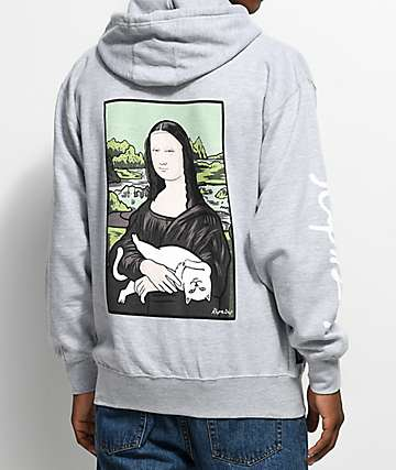 RipNDip Nermal Lisa Athletic Heather Grey Hoodie