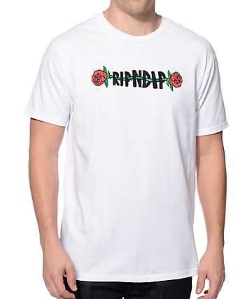 RipNDip Rose White T-Shirt