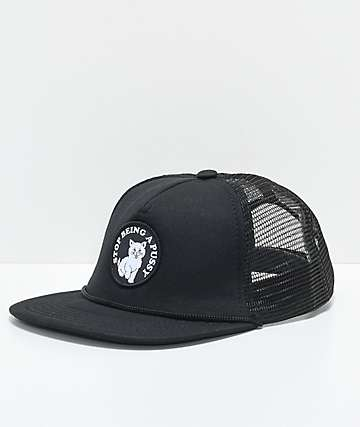 RipNDip SBAP gorra snapback de malla negra