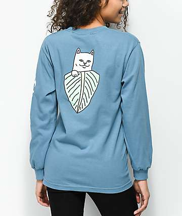 RipNDip Safari Nermal Baby Blue Long Sleeve T-Shirt