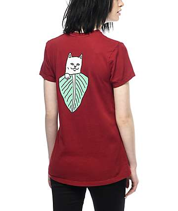 RipNDip Safari Nermal Burgundy T-Shirt