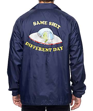 RipNDip Same Shit Different Day Navy Coaches Jacket