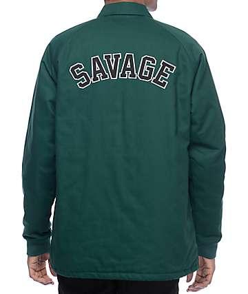 RipNDip Savage chaqueta entrenador asargado en verde