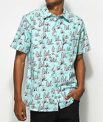 RipNDip Stoner Mint Woven Button Up Shirt