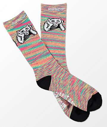 RipNDip Stoners Melange Crew Socks