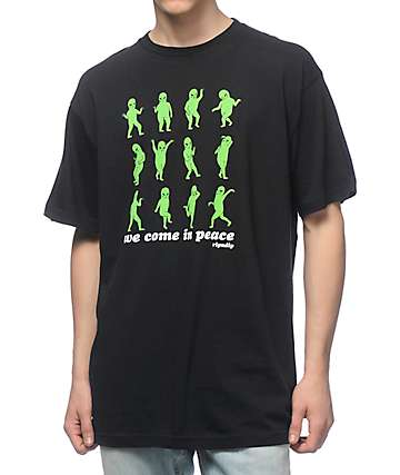 RipNDip We Come In Peace Black T-Shirt