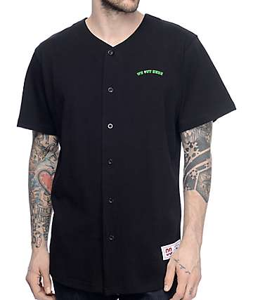 RipNDip We Out Here Black Baseball Jersey