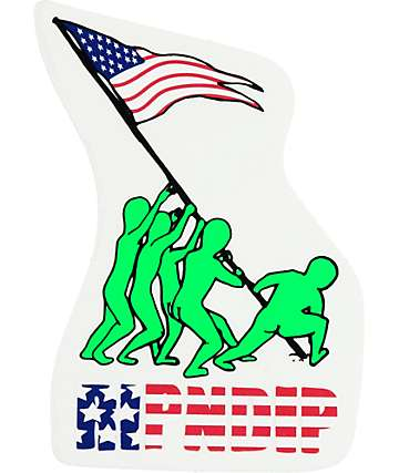 RipNDip We Out Here For America Sticker