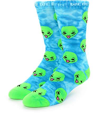 RipNDip We Out Here Green Tie Dye Socks