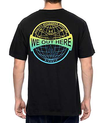 RipNDip We Out Here Gridglobe Black T-Shirt