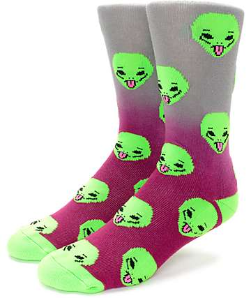 RipNDip We Out Here Maroon Crew Socks