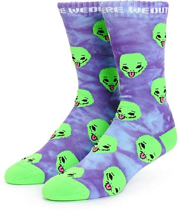 RipNDip We Out Here Tie Dye Crew Socks