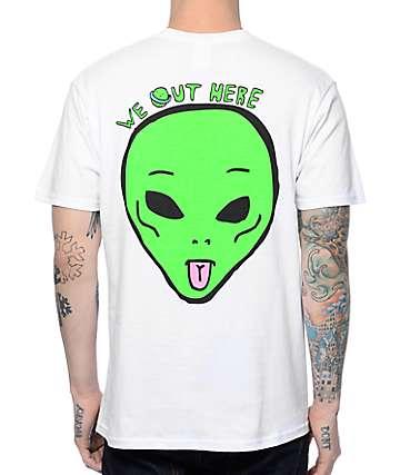 RipNDip We Out Here camiseta con bolsillo blanco