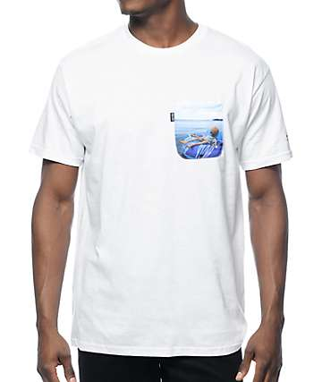 RipNDip x Lil Mayo White Pocket T-Shirt