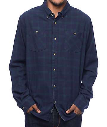 Roark Blue Buck Navy Flannel Shirt