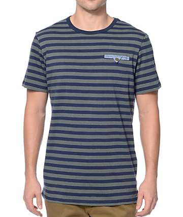 Roark Cuongs Navy Pocket T-Shirt