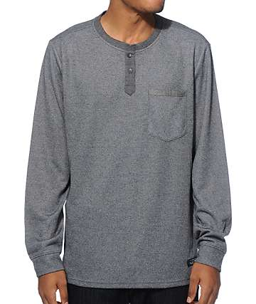 Roark Dati Long Sleeve Henley Pocket Shirt