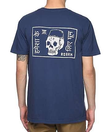 Roark Forever Roaming camiseta en azul marino