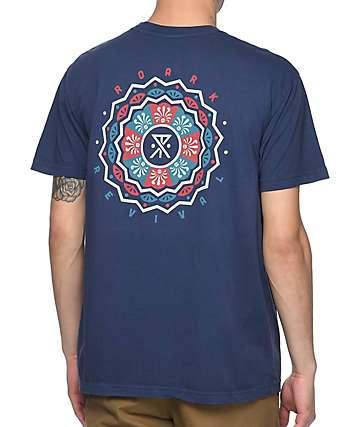 Roark Geno's Mandala Navy T-Shirt