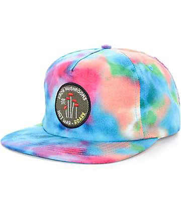Roark Grow Mushrooms Tie Dye Snapback Hat