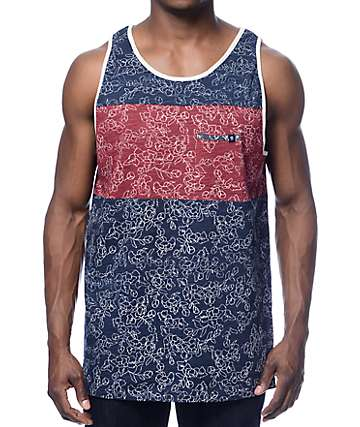 Roark Hmong Navy Pocket Tank Top