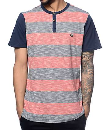 Roark Misfit Red & Navy Knit Henley