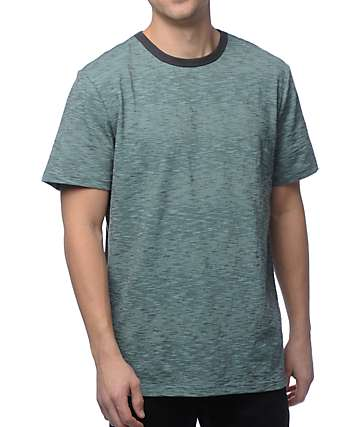 Roark Munnar Mint Heather Knit T-Shirt