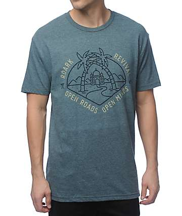 Roark Open Roads Heather Green T-Shirt