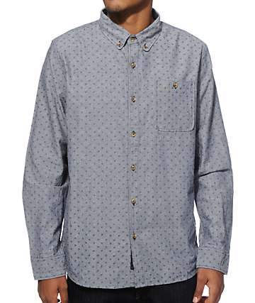 Roark Paisley-Eye Long Sleeve Button Up Shirt