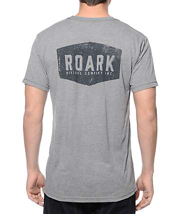 Roark Plaque Heather Grey T-Shirt