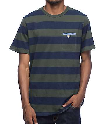 Roark Shelter Army Stripe Knit T-Shirt