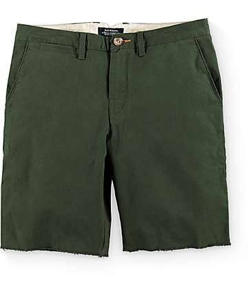 Roark The Porter Olive Twill Shorts