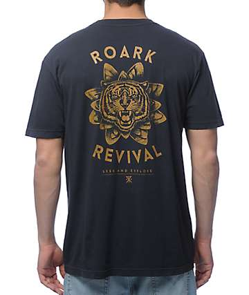 Roark Tiger Lotus Dark Grey T-Shirt