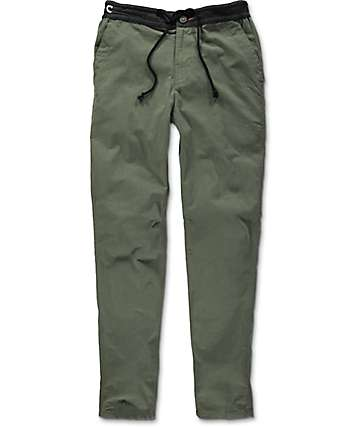 Roark Transit Olive Green Travel Pants