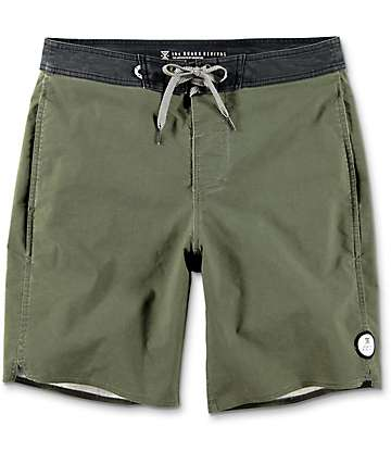 Roark Well Worn Olive Green Board Shorts
