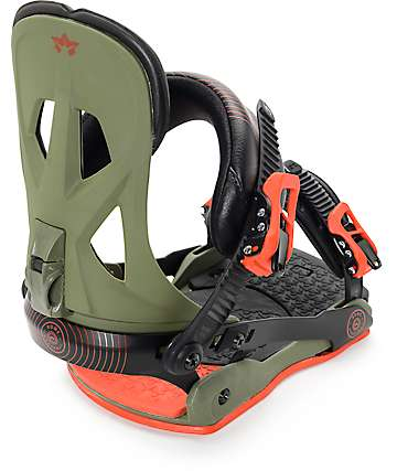 Rome Arsenal Army Green Snowboard Bindings