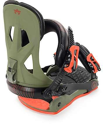 Rome Arsenal Army fijaciones de snowboard en verde