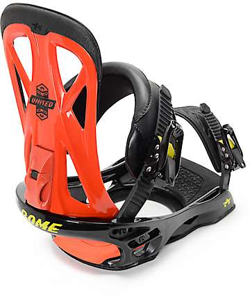 Rome United Red Snowboard Bindings