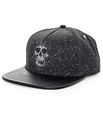 Rook Drip Skull Black Snapback Hat