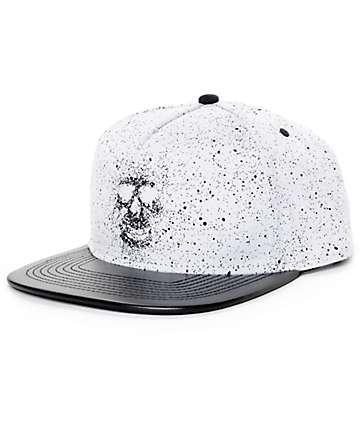 Rook Drip Skull White Snapback Hat