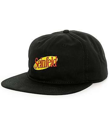 Rook x Seinfeld Black Strapback Hat