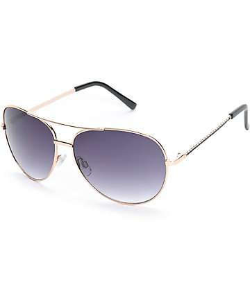 Rope Me In Black Aviator Sunglasses