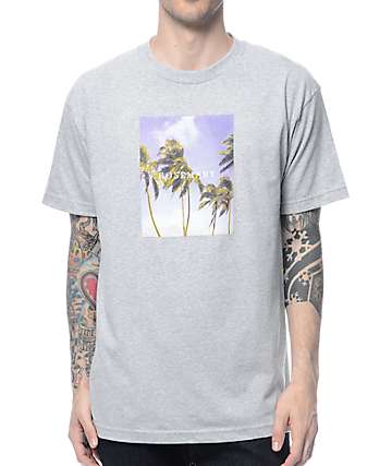 Rosemary Palms Heather Grey T-Shirt