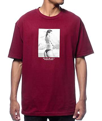 Rosemary x Primitive High Tide Burgundy T-Shirt